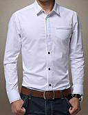 baratos Jaquetas & Casacos para Homens-Homens Camisa Social - Trabalho Negócio Floral Algodão / Manga Longa
