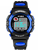 cheap Kids' Watches-SYNOKE Men's Sport Watch / Digital Watch Calendar / date / day / Chronograph / Water Resistant / Water Proof PU Band Fashion Black / Dual Time Zones / Noctilucent
