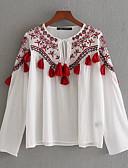 ieftine Cămașă-cămașă pentru femei - gât rotund floral