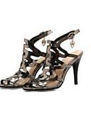 hesapli Gece Elbiseleri-Kadın's Ayakkabı PU Yaz Rahat Sandaletler Stiletto Topuk Günlük için Altın / Gümüş / Pembe