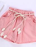 זול מכנסיים וטייץ לבנות-שורטים אחיד בסיסי בנות ילדים