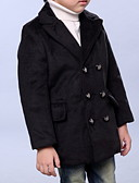 cheap Boys' Jackets & Coats-Kids Boys' Solid Colored Long Sleeve Jacket & Coat