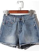 povoljno Ženske hlače i suknje-Žene Osnovni Kratke hlače Hlače Jednobojni Crno-crvena