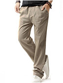 tanie Męskie spodnie i szorty-Męskie Wzornictwo chińskie Luźna Typu Chino Spodnie Solidne kolory
