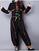 povoljno Ženski dvodijelni kostimi-Žene Veći konfekcijski brojevi Puff rukav  Pamuk Osnovni Set - Jednobojni, Drapirano Hlače