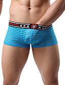 cheap Men's Underwear & Socks-Men's Normal Boxers Underwear - Basic, Solid Colored Low Waist Green Black Red M L XL