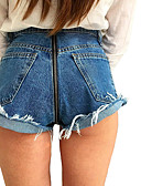 povoljno Ženske hlače-Žene Ulični šik Traperice Hlače Jednobojni