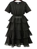 cheap Work Dresses-women's basic chiffon dress above knee