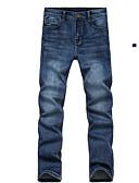 billige Herreundertøj og -sokker-Herre Bomuld Jeans Bukser - Ensfarvet Blå