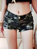 hesapli Gömlek-Kadın's Actif / Askeri Büyük Bedenler Günlük Dışarı Çıkma Kotlar Pantolon - kamuflaj Kırk Yama Yüksek Bel Ordu Yeşili S M L / Sexy