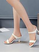 abordables Vestidos de Mujeres-Mujer Zapatos PU Verano Pump Básico Sandalias Tacón Stiletto Puntera abierta Blanco / Beige / Rosa