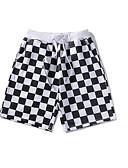 זול תחתוני גברים אקזוטיים-בגדי ריקוד גברים משוחרר שורטים מכנסיים משובץ דמקה