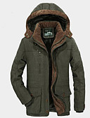 cheap Men's Downs & Parkas-Men's Basic Padded - Solid Colored