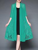 billige Jakke & Trench Coat-Trykt mønster Cloak / Capes - Ensfarget / Blomstermønster Vintage / Grunnleggende Dame