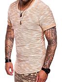 tanie Męskie koszulki polo-Puszysta T-shirt Męskie Podstawowy / Wojsko Bawełna Okrągły dekolt Szczupła - Solidne kolory / Krótki rękaw