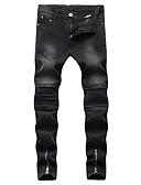 זול בגדי ים לגברים-בגדי ריקוד גברים פאנק & גותיות ג'ינסים מכנסיים אחיד