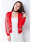 cheap Women's Leather & Faux Leather Jackets-Women's Active Cotton Leather Jacket - Floral / Botanical