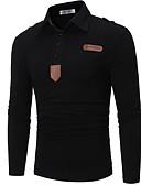 זול חולצות פולו לגברים-אחיד בסיסי Polo - בגדי ריקוד גברים