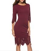 tanie Sukienki-Damskie Wyrafinowany styl / Elegancja Szczupła Spodnie - Solidne kolory Czarny / Wyjściowe