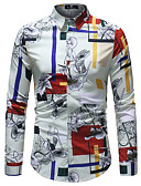 povoljno Muške košulje-Majica Muškarci - Posao / Osnovni Dnevno / Klub Color block Print Tropska lista