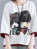 abordables Camisas y Camisetas para Mujer-Mujer Tallas Grandes Camiseta Geométrico