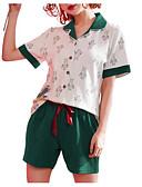 cheap Women's Lingerie-Women's Turtleneck Suits Pajamas Solid Colored