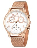 cheap Quartz Watches-Geneva Women's Wrist Watch Quartz New Design Casual Watch Cool Alloy Band Analog Casual Fashion Silver / Rose Gold - Rose Gold / White Silver / Blue Black / Rose Gold One Year Battery Life