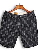 ieftine Pantaloni Bărbați si Pantaloni Scurți-Bărbați Bumbac Pantaloni Chinos / Pantaloni Scurți Pantaloni Mată / Bloc Culoare / Carouri / Plajă