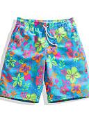 ieftine Maieu & Tricouri Bărbați-Bărbați Pantaloni Scurți de Înot Ultra Ușor (UL), Uscare rapidă, Respirabil POLY Costume de Baie Costum de plajă Pantaloni Scurti / Pantaloni Floral / Botanic Surfing / Plajă / Sporturi Acvatice