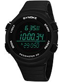 זול שעונים דיגיטלים-SYNOKE בגדי ריקוד גברים שעוני ספורט / שעון דיגיטלי לוח שנה / כרונוגרף / עמיד במים PU להקה אופנתי שחור / אפור / נייבי / שעון עצר / זוהר בחושך