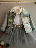 preiswerte Kapuzenpullover & Sweatshirts für Mädchen-Kinder Mädchen Patchwork Langarm Anzug & Blazer