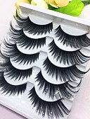 cheap Party Dresses-Eyelash Extensions False Eyelashes 10 pcs Extra Long Volumized Curly Beauty Fiber Event / Party Daily Wear Thick Natural Long - Makeup Daily Makeup Halloween Makeup Party Makeup Trendy High Quality