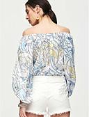 ieftine Bluze de Damă-Pentru femei Bateau Wrap Floral
