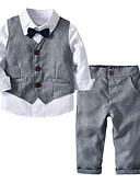 cheap Mother of the Bride Dresses-Kids / Toddler Boys' Solid Colored Long Sleeve Clothing Set