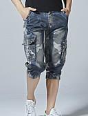 ieftine Pantaloni Bărbați si Pantaloni Scurți-Bărbați De Bază Pantaloni Scurți Pantaloni Geometric Alb negru