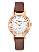 cheap Quartz Watches-Geneva Women's Wrist Watch Quartz New Design Casual Watch Cool Leather Band Analog Casual Fashion Black / Brown - Brown black Rose Gold / White Black / Rose Gold One Year Battery Life