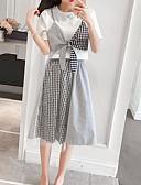 tanie Koszula-Damskie Puszysta Bawełna Vintage Bufka Zestaw - Frędzel, Solidne kolory Sukienka