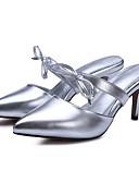 preiswerte Abendkleider-Damen Schuhe Mikrofaser Sommer Komfort Sandalen Stöckelabsatz Gold / Schwarz / Silber
