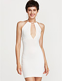 cheap Women's Dresses-Women's Party Skinny Bodycon Dress - Solid Colored High Waist Mini Strap / Sexy
