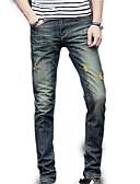 tanie Męskie koszule-Męskie Moda miejska Jeansy Spodnie Jendolity kolor