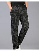 ieftine Polo Bărbați-Bărbați De Bază / Militar Pantaloni Chinos / Pantaloni Sport Pantaloni camuflaj