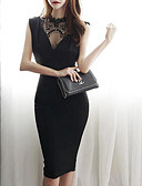 cheap Women's Dresses-Women's Bodycon Dress - Solid Colored High Waist