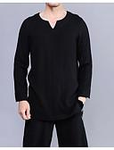 ieftine Maieu & Tricouri Bărbați-Bărbați Tricou De Bază / Chinoiserie - Mată
