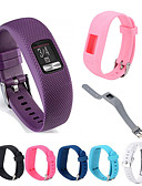 Недорогие Smartwatch Bands-Ремешок для часов для Vivofit 3 Garmin Спортивный ремешок силиконовый Повязка на запястье