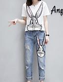 hesapli İki Parça Kadın Takımları-Kadın's Büyük Bedenler Actif Karpuz Kol Set - Büzgülü, Solid Pamuklu Pantolon