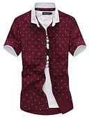 זול חולצות לגברים-גוגולות Party / עבודה חולצה - בגדי ריקוד גברים / שרוולים קצרים