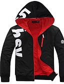billige Hættetrøjer og sweatshirts til herrer-Herre Basale Langærmet Hætte Hattetrøje - Ensfarvet