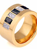 cheap Men's Shirts-Couple's Synthetic Diamond Stylish Couple Rings - Stainless Creative Stylish, Artistic, Simple 6 / 7 / 8 Gold For Birthday / Gift