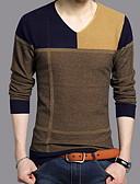 cheap Men's Jackets & Coats-Men's Basic Pullover - Color Block