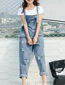 tanie Getry-Damskie Podstawowy Kombinezon Spodnie - Solidne kolory Niebieski